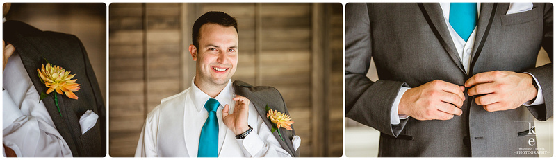 groom portait and editorial images of him getting ready for his wedding day